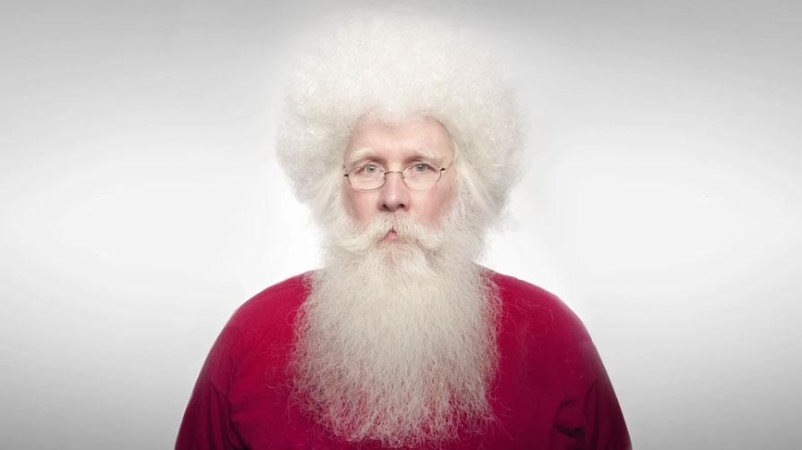 Santa Gets A Haircut